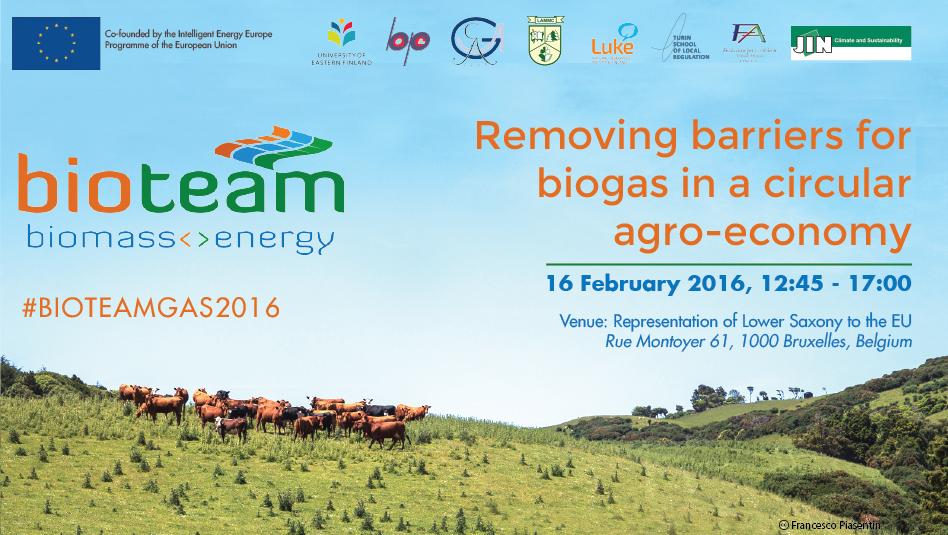 Removing barriers for biogas in a circular agro-economy, Brussels 16/02/2016